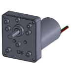 """CM-A"" style gearbox with brushless DC motor"