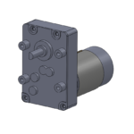 "Mini style permanent magnet gear motor - ""C"" mounting"