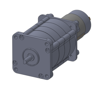 permanent magnet DC-powered planetary gearmotor