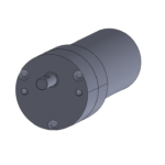 Round gearbox with brushless DC gearmotor