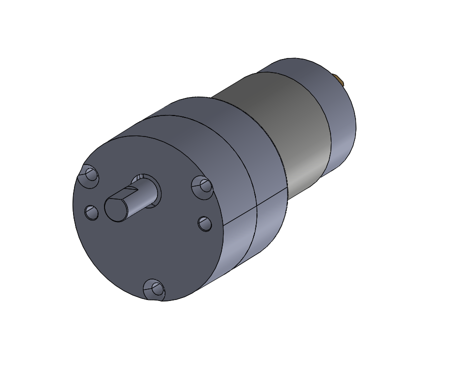 Round style permanent magnet gear motor