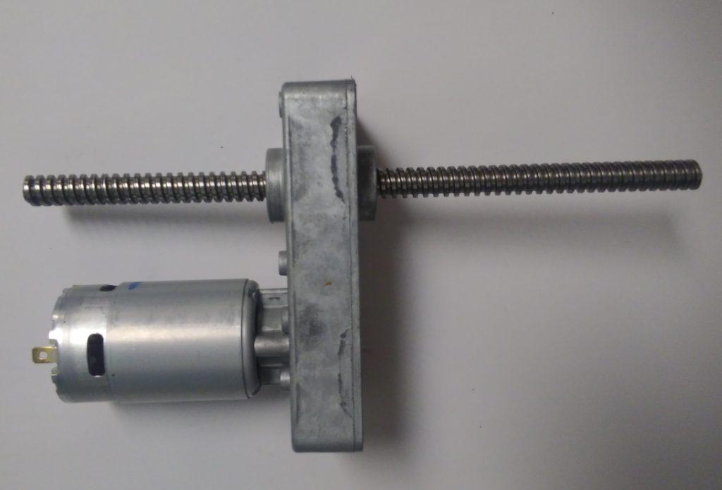 DC-powered linear motion gearmotor