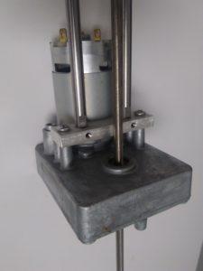 linear motion DC-powered gear motor